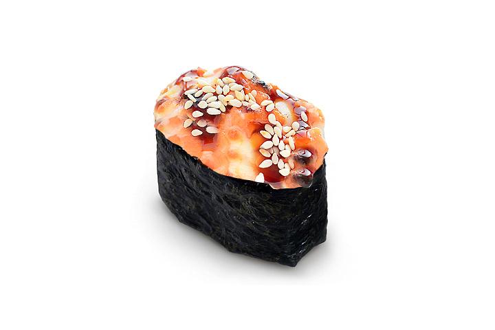 Гункан запечённый с лососем