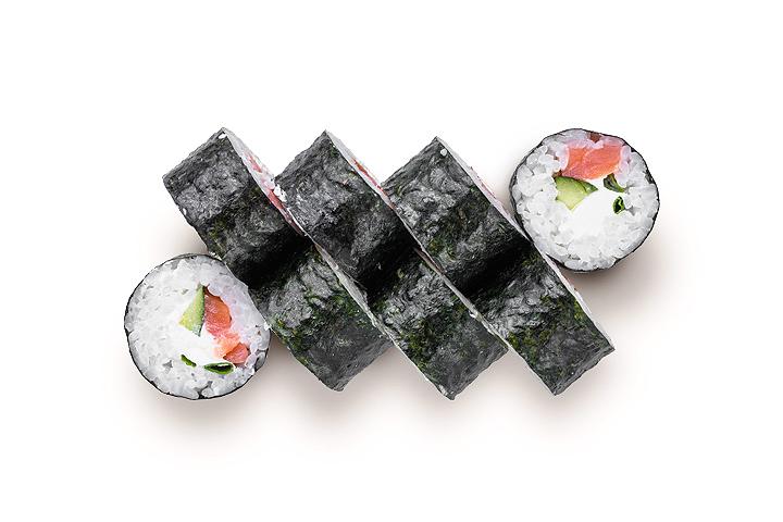 Футомаки с копченым лососем